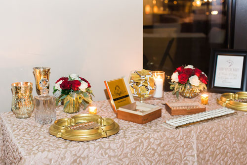 welcome table at Caramel Room | Events Luxe Wedding