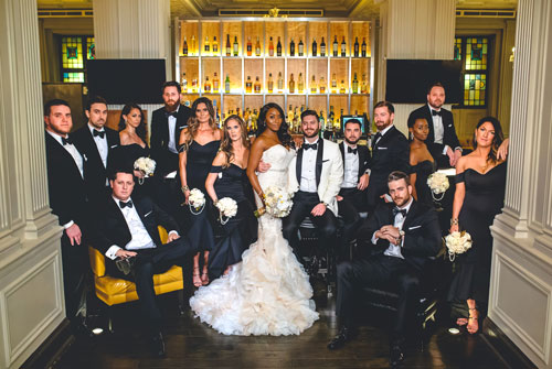 Bridal Party at Caramel Room | Events Luxe Weddings