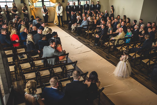 Wedding Ceremony at the Caramel Room | Events Luxe Wedding