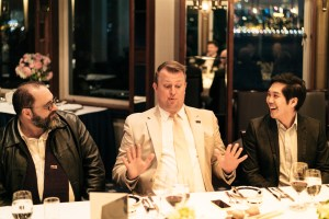 ISES Hong Kong Leadership dinner Darren Kerr , Kevin White CSEP, Benson Looi