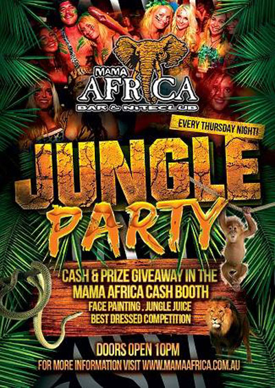 Jungle Party @ Mama Africa Bar & Niteclub | Airlie Beach ...