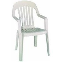 Plastic Resin Chairs Oversized Wingback Chair White With Arms Rentals Orlando