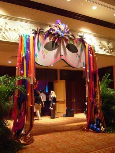 Mardi Gras Entryway Orlando Event Decor Rentals