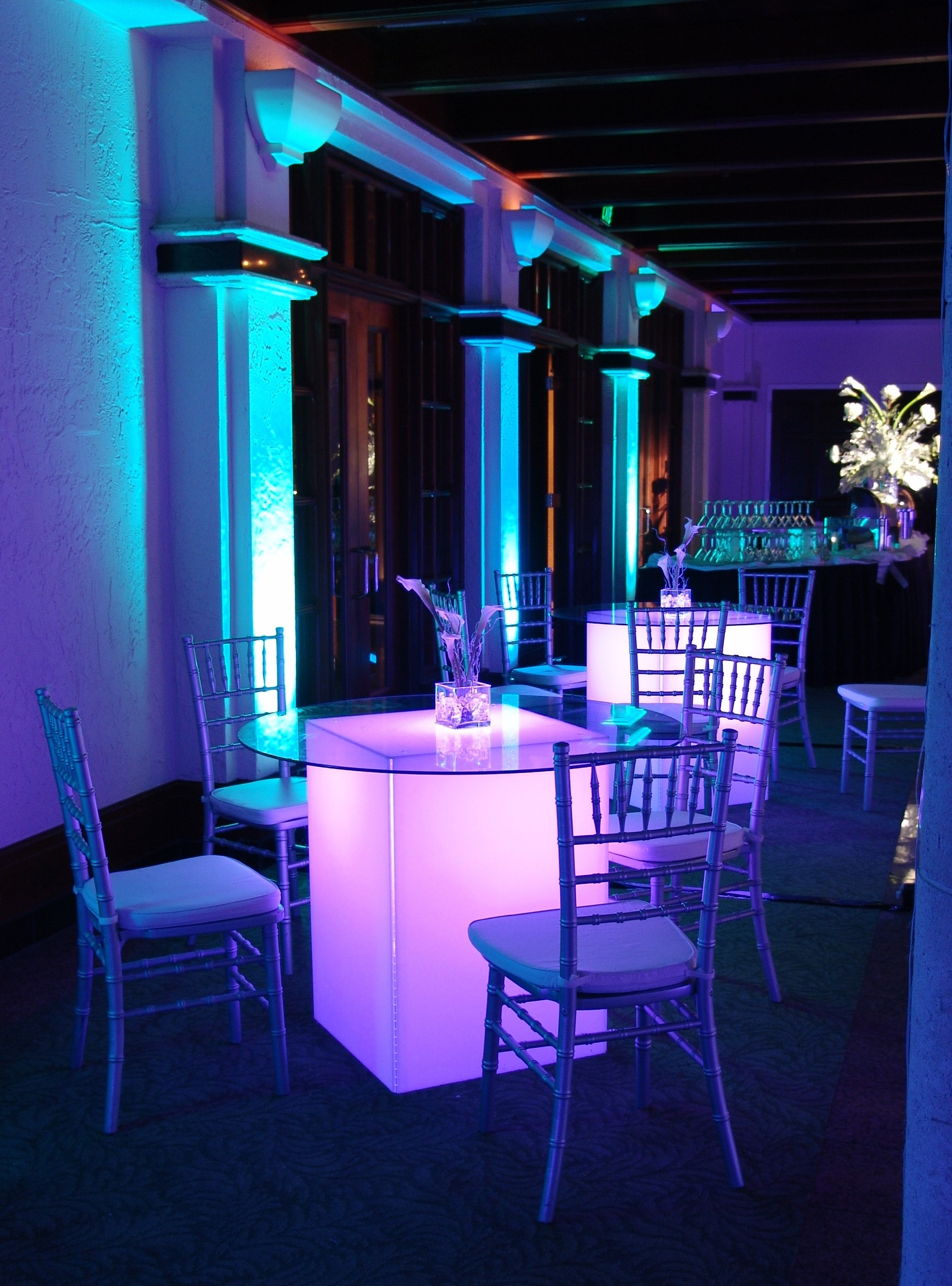 table chair rentals orlando peppa pig seated glow cocktail