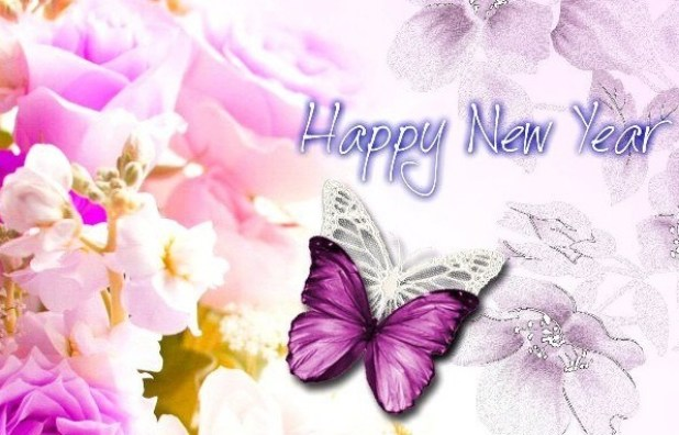 butterfly hd wallpaper for happy new year