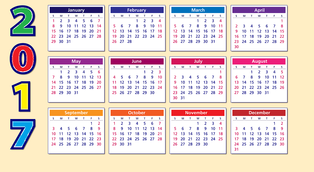 Calendar 2017 pictures and images free download