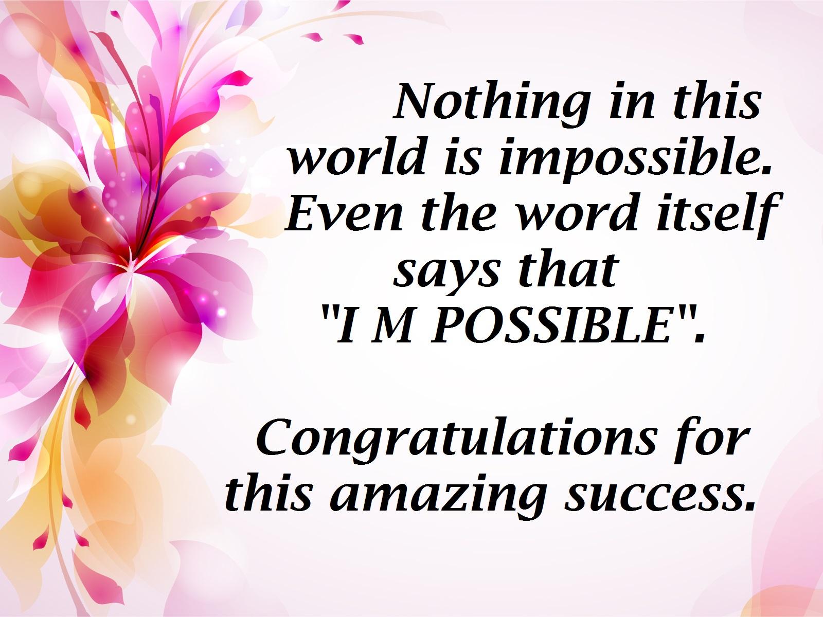 congratulations for