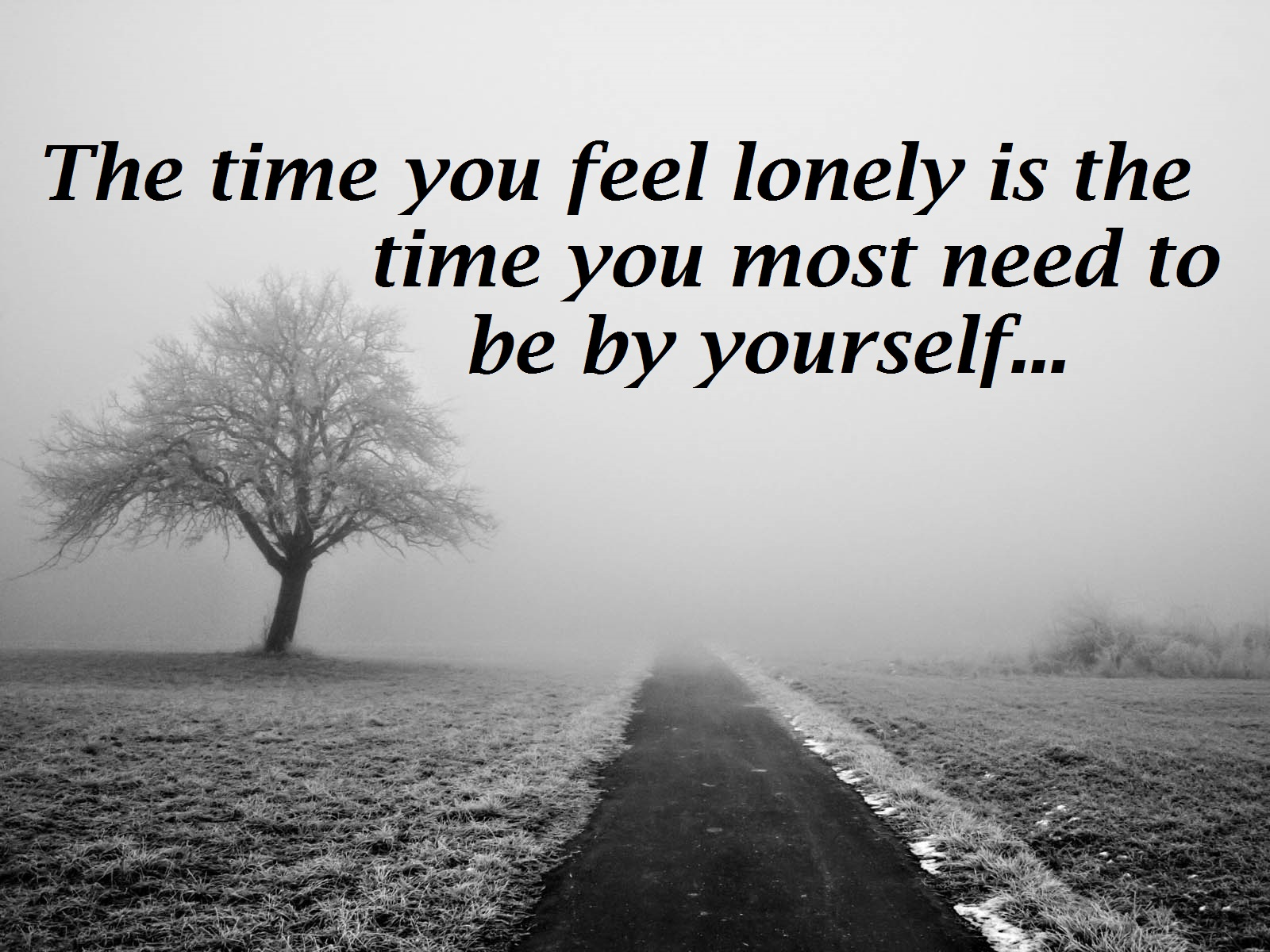 2019 year style- Images lonely with quotes photo