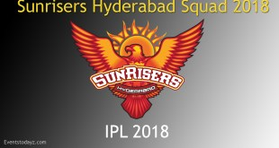 Sunrisers Hyderabad Team 2018 Players squad