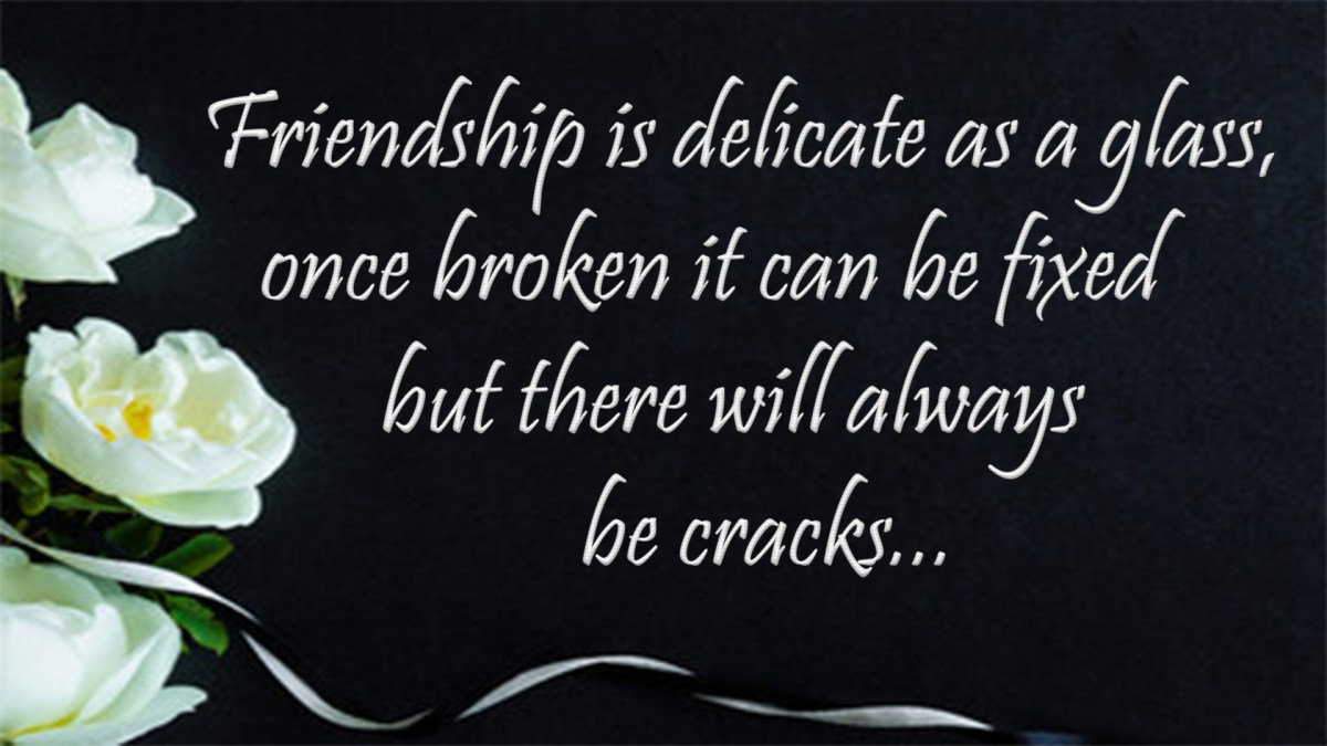 Sad Broken Friendship Quotes Images | Friendship Breakup Quotes