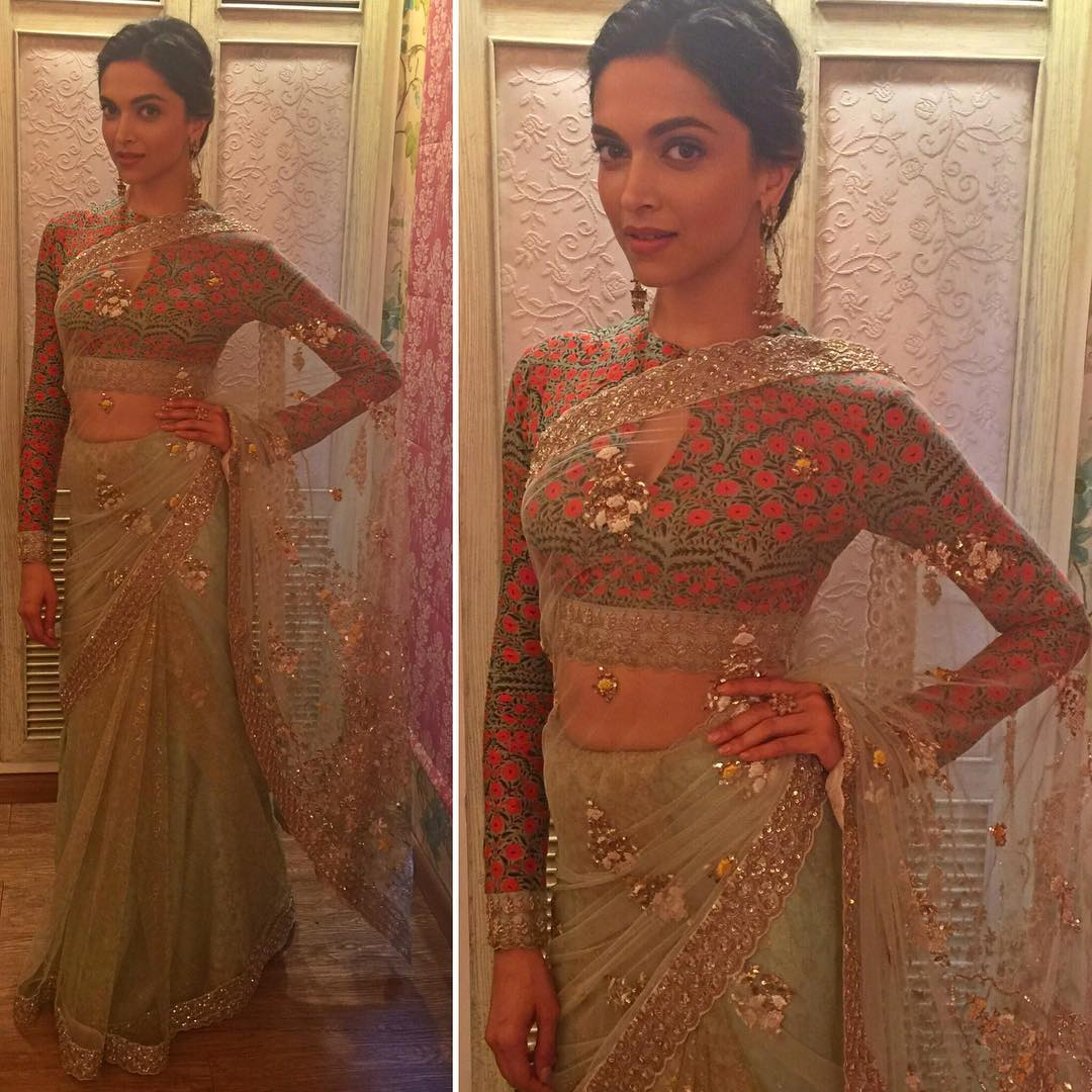 7 Pretty Blouse Necklines To Steal From Deepika padukone ...