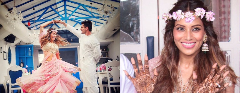 "Bipasha Basu is All ""Flowered"" Up In Her Sangeet and Mehendi Ceremonies!"