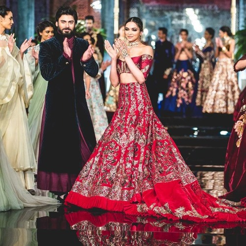 Deepika Padukone and Fawad Khan for Manish Malhotra's Persian story