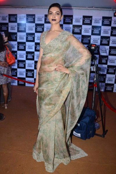 Deepika Padukone in Sabyasachi at Lakme Fashion Week 2016