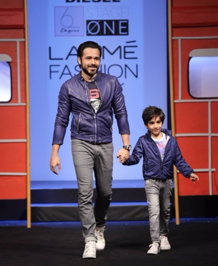 Emraan Hashmi and Ayaan at Lakme Fashion Week