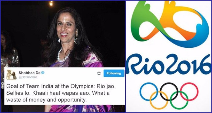 Shobhaa De Makes a Rude Comment About Olympic Players, and Celebrities Respond