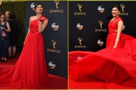 Lady in Red, Priyanka Chopra is a Sight to Behold at The Emmys 2016