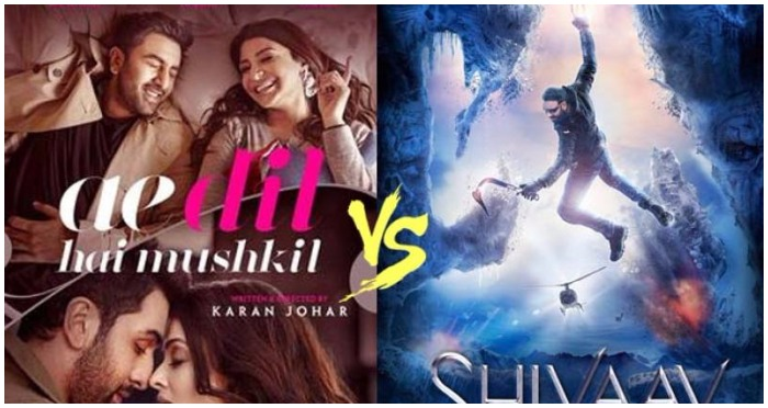 Ae Dil Hai Mushkil Vs Shivaay Box Office Opening: Guess Which Film Leads The Race