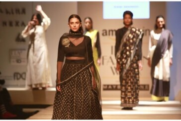 AIFW SS17 Day 1: Actress Aditi Rao Hydari Dazzled in Black For Sanjay Garg's 'Raw Mango'