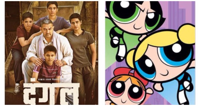 This Hilarious Mash-Up of 'Dangal' with This Powerpuff Girls Twist Will Blow Your Mind