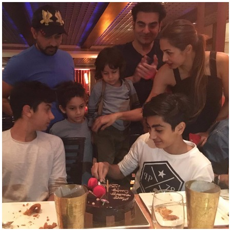 Arbaaz Khan and Malaika Arora's son arhaans birthday