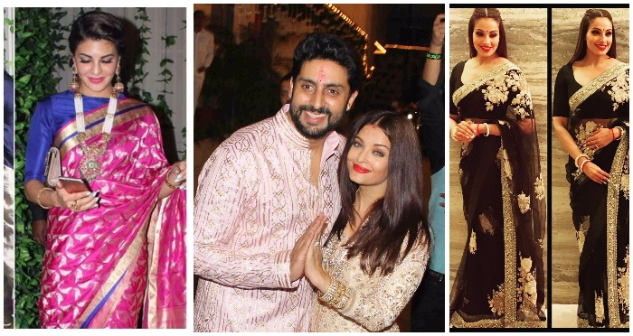 Who Wore What: B-Town Celebrities Go Glam At Bachchan's Diwali Bash!