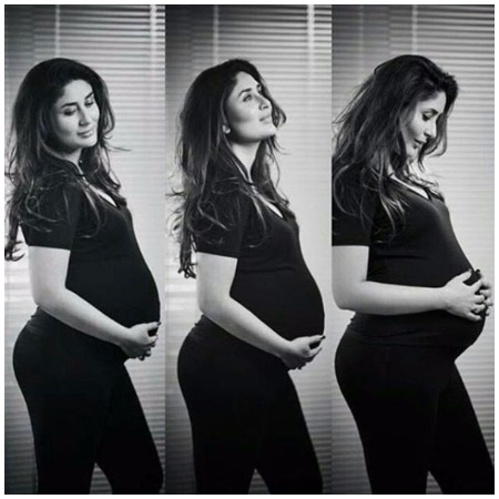 Kareena Kapoor Khan's Black and White Maternity Shoot