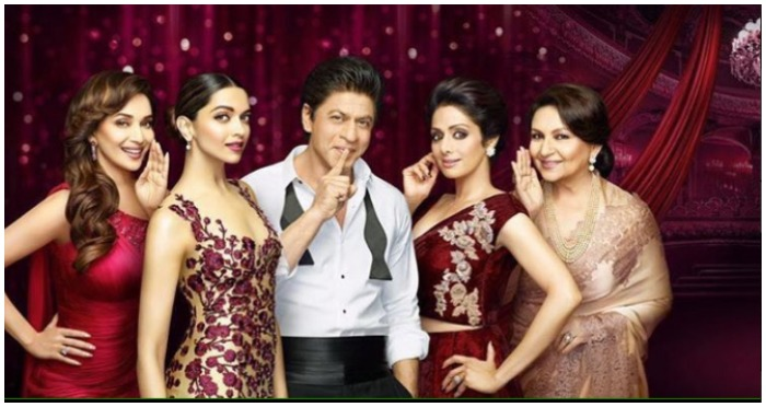 Golden Rose Awards 2016: SRK Looks Smoking Hot AF With His Lady Love Deepika, Madhuri and Others In This Video