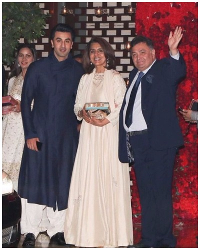 Rishi Kapoor Nitu Kapoor at Ambani star studded bash