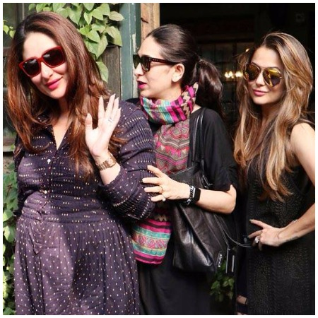 Pregnant Kareena kapoor with karisma kapoor and amrita arora