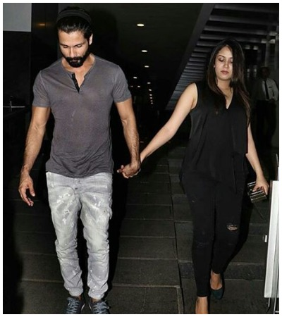 Shahid Kapoor Mira Rajput at dinner date
