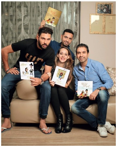 Yuvraj Singh and Hazel Keech wedding invitation