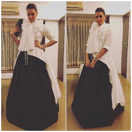 Neha Dhupia at Filmfare Awards 2017 Red Carpet!