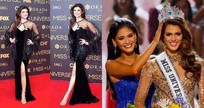 Sushmita Sen as Judge Relieved The Moment: Iris Mittenaere of France is crowned Miss Universe 2017
