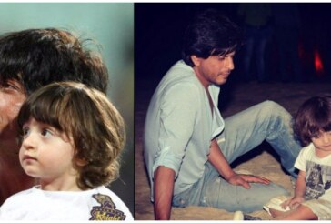Shah Rukh Khan and Abram: Two Studs Taking A Late Night Walk On The Beach
