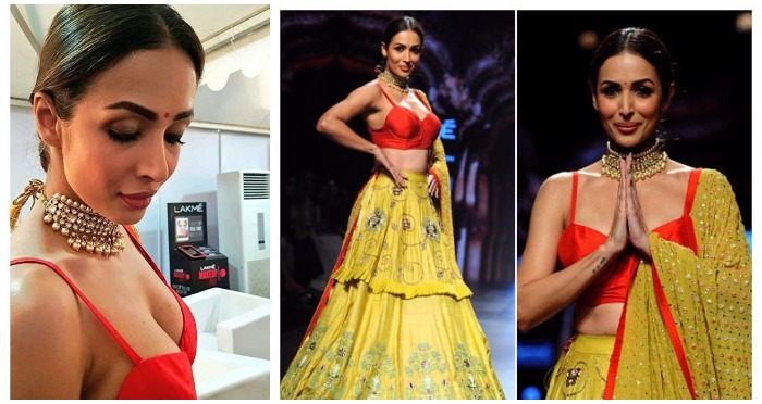 Lakme Fashion Week 2017: The Ravishing Malaika Arora Khan as Showstopper for Divya Reddy is Slaying in Yellow-Red Lehenga