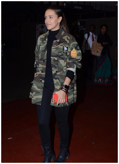Neha Dhupia Celebrity Inspired Military Outfits for summer