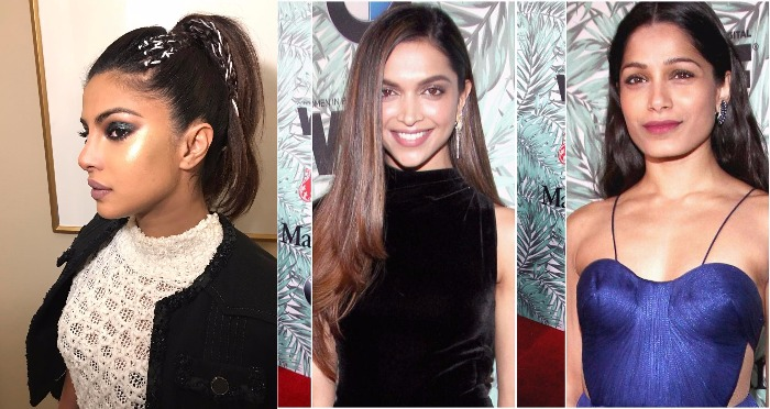 Sizzling Hot: Deepika Padukone, Priyanka Chopra and Freida Pinto At Oscars 2017 Pre-Awards cocktail party!