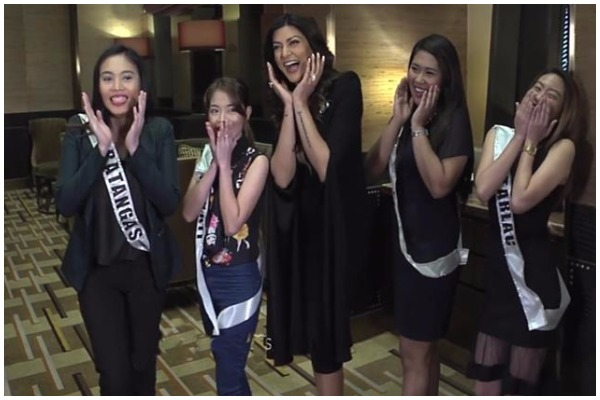Exhilarated Sushmita When She Meets Four Filipino Girls Named After Her
