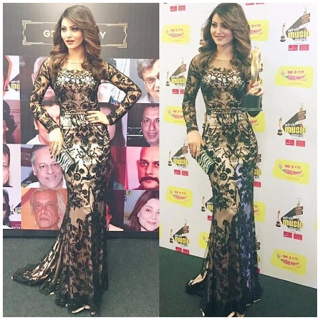 Urvashi Rautela Best Dressed Bollywood Actors at Mirchi Music Awards 2017