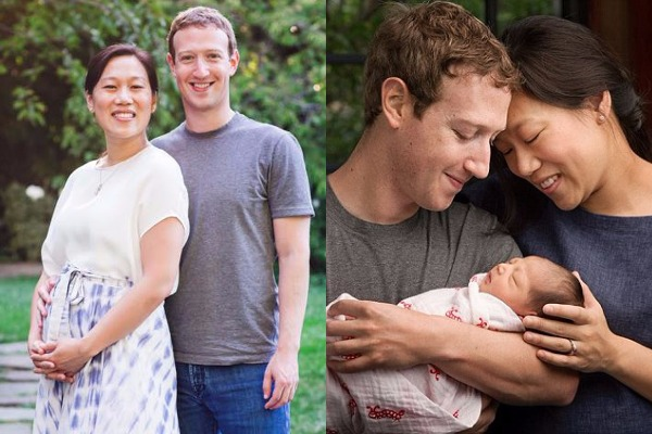 FB Founder Mark Zuckerberg and Wife Priscilla Chan Expecting Second Baby Girl