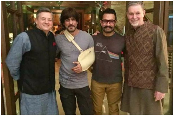 Netflix CEO Reed Hastings With SRK Aamir Khan