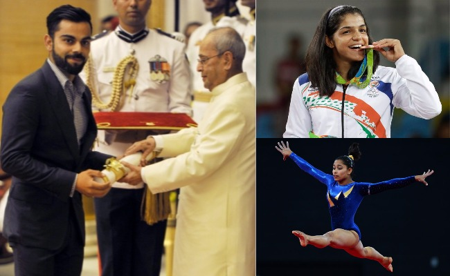 Padma Shri 2017: Watch Virat Kohli Receiving Padma Shri Award With Sakshi Malik, Dipa Karmakar in Sports