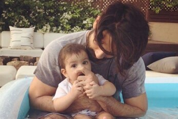 Aww! Daddy Shahid Kapoor and Daughter Misha Having An Adorable Pool Time