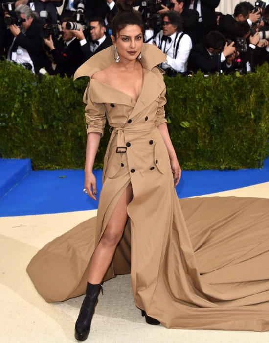 Priyanka Chopra Met Gala 2017 In Ralph Lauren's longest Trench Coat