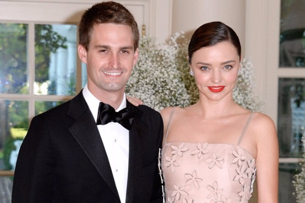 Supermodel Miranda Kerr And Snapchat CEO Evan Spiegel Are Officially Hitched!