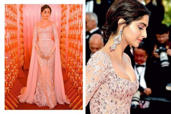Sonam Kapoor at Cannes 2017: Sonam Goes Radiant Like A Gold Rose In Elie Saab!