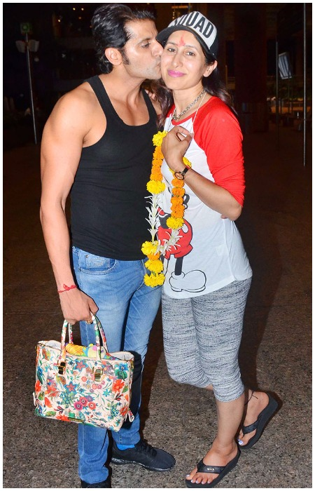 Karanvir Bohra Teejay Sidhu With Daughters Returned India