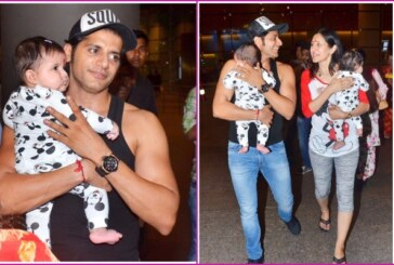 PICS: Naagin 2 Actor Karanvir Bohra, Teejay Sidhu With Twin Daughters Returned India With A Warm Airport Welcome