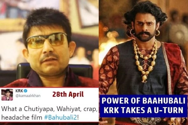 After Slamming Baahubali 2, Kamaal R Khan Apologizes To Baahubali Director SS Rajamouli. WHY?